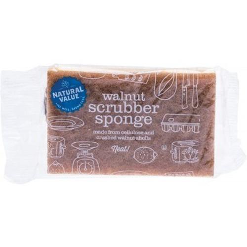 Sponge Scrubber Walnut - Natural Value