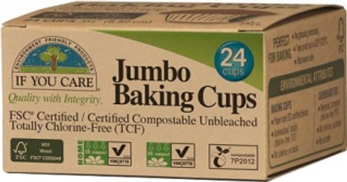 Baking Cups Jumbo 24 Cups- If You Care