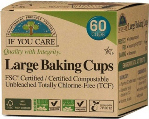 Baking Cups Large 60 Cups- If You Care