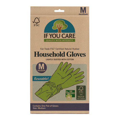 Gloves Reusable Medium 1 Pair- If You Care
