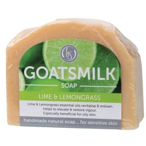Soap Bar Goat's Milk Lime & Lemongrass 140g - Harmony Soapworks