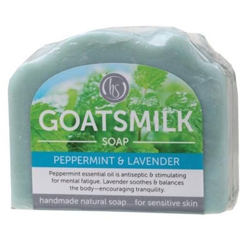 Soap Bar Goat's Milk Peppermint Lavender 140g - Harmony Soapworks