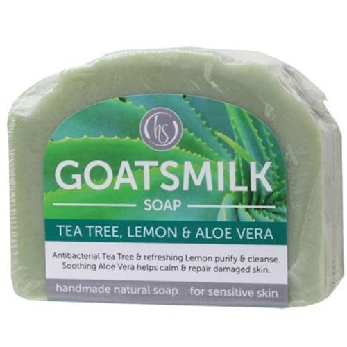 Soap Bar Goat's Milk Tea Tree Lemon & Aloe Vera - Harmony Soapworks