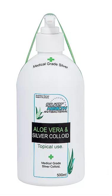 Aloe Vera Gel and Colloidal Silver 500ml - Silver Health