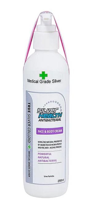 Face & Body Cream with Colloidal Silver 250ml - Silver Health