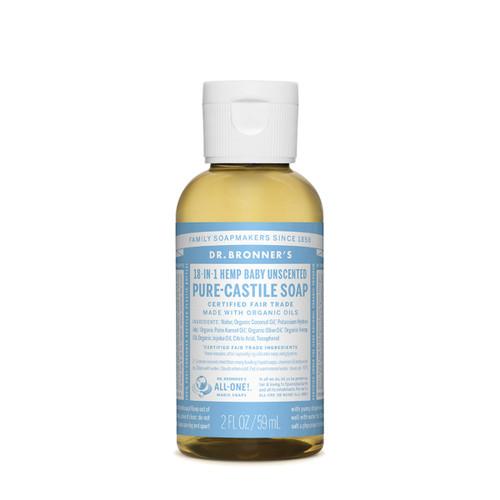 Baby Mild Unscented Pure Castile Hemp Soap 59ml - Dr Bronner
