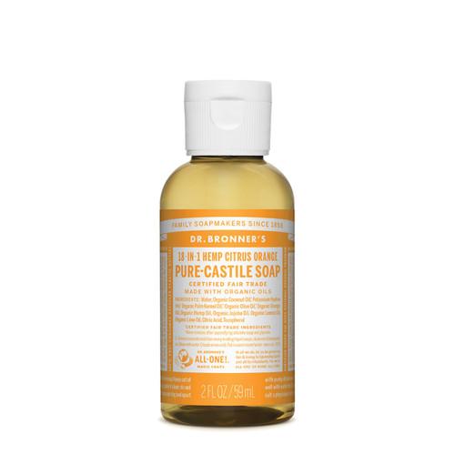 Citrus Orange Pure Castile Hemp Soap 59ml - Dr Bronner