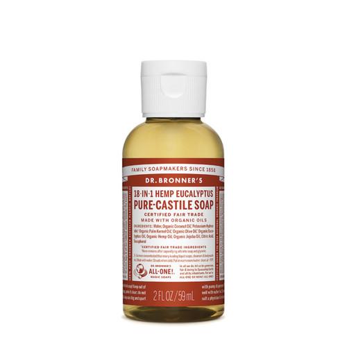Eucalyptus Pure Castile Hemp Soap 59ml - Dr Bronner
