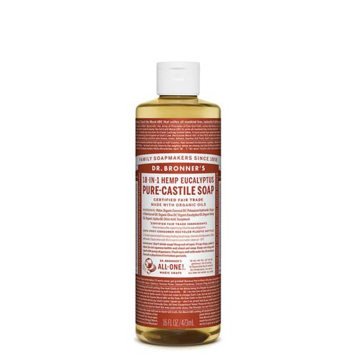 Eucalyptus Pure Castile Hemp Soap 473ml - Dr Bronner