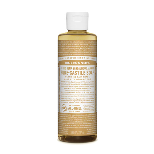 Sandalwood Jasmine Pure Castile Hemp Soap 237ml - Dr Bronner