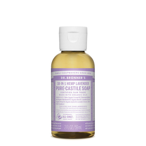 Lavender Pure Castile Hemp Soap 59ml - Dr Bronner
