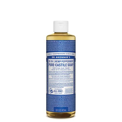 Peppermint Pure Castile Hemp Soap 473ml - Dr Bronner