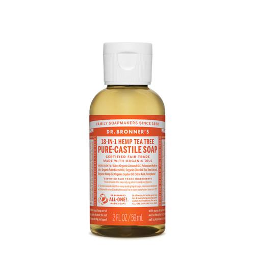 Tea Tree Pure Castile Hemp Soap 59ml - Dr Bronner