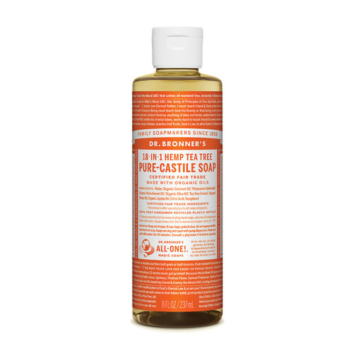 Tea Tree Pure Castile Hemp Soap 237ml - Dr Bronner