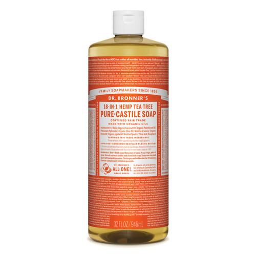 Tea Tree Pure Castile Hemp Soap 946ml - Dr Bronner