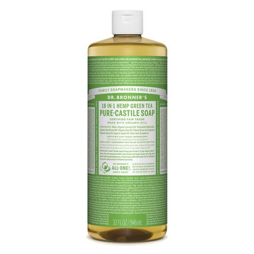 Green Tea Pure Castile Hemp Soap 946ml - Dr Bronner