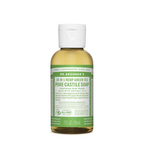 Green Tea Pure Castile Hemp Soap 59ml - Dr Bronner