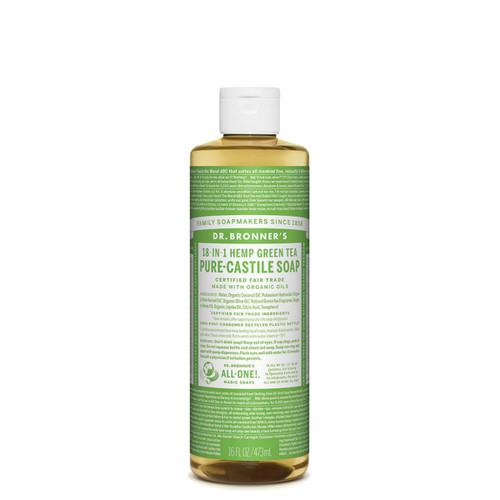 Green Tea Pure Castile Hemp Soap 473ml - Dr Bronner