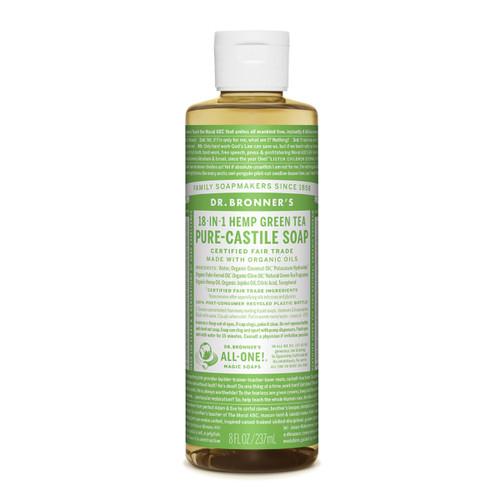 Green Tea Pure Castile Hemp Soap 237ml - Dr Bronner