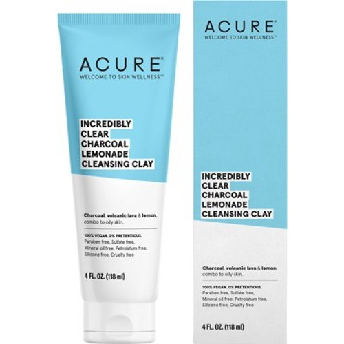 Cleansing Clay Incredibly Clear Charcoal Lemonade 118ml - Acure