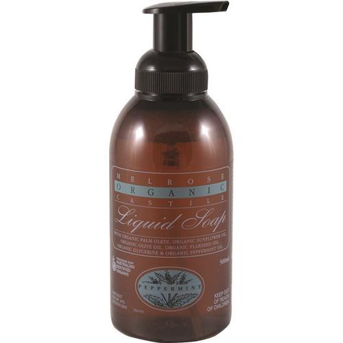 Hand/Body Soap Castille Peppermint Organic 500ml - Melrose