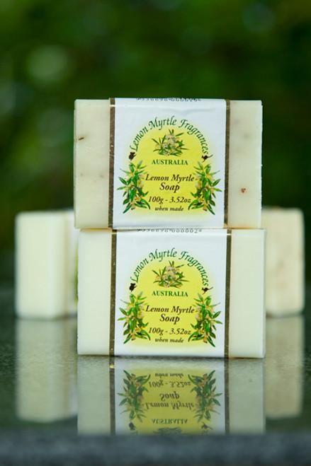 Soap Bar Scrub Lemon Myrtle 100g - Lemon Myrtle Fragrances