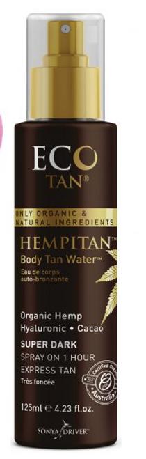 Hempitan Body Tan Water Super Dark Organic 125ml - Eco Tan