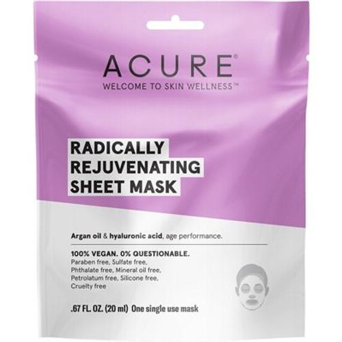Face Sheet Mask Rejuvenating 20ml - Acure