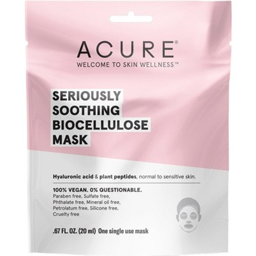 Face Sheet Mask Soothing Biocellulose 20ml - Acure