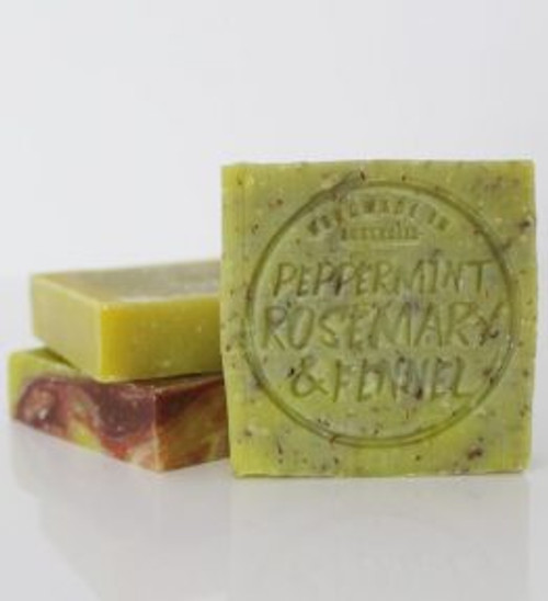 Soap Bar Peppermint, Fennel & Rosemary 110g - Corrynne's Natural Skincare