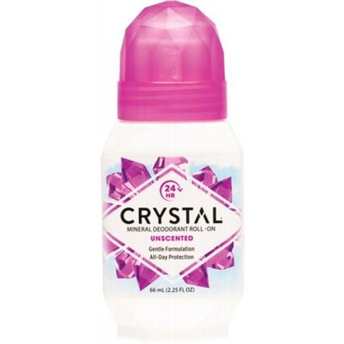 Unscented Mineral Deodorant Roll On 50ml - Crystal