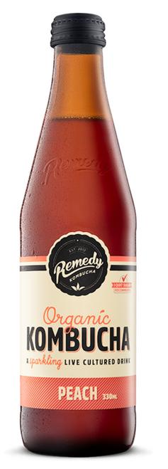 Peach Kombucha 330ml - Remedy