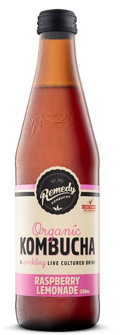 Raspberry Lemonade Kombucha 330ml - Remedy