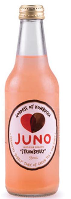 Strawberry Kombucha 330ml - Juno