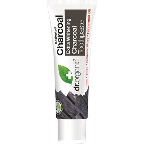 Toothpaste Activated Charcoal 20ml Travel - Dr Organic