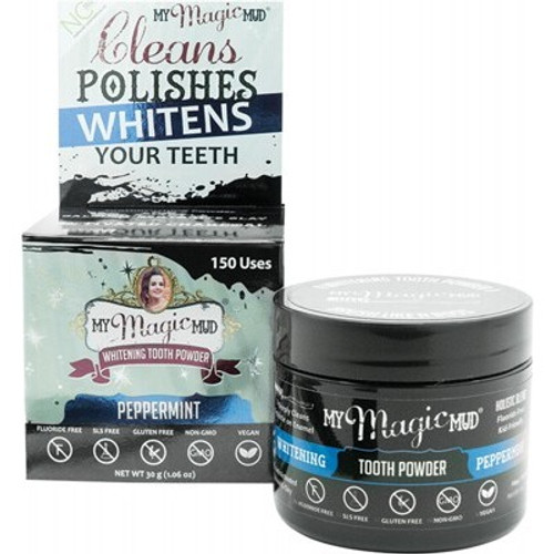 Tooth Powder Whitening Peppermint 30g - My Magic Mud