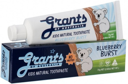Toothpaste Natural Kids Blueberry Burst 75g - Grants