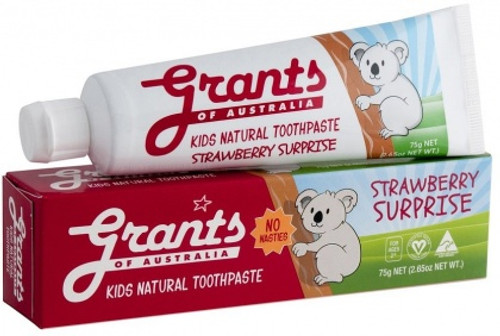 Toothpaste Natural Kids Strawberry Surprise 75g - Grants