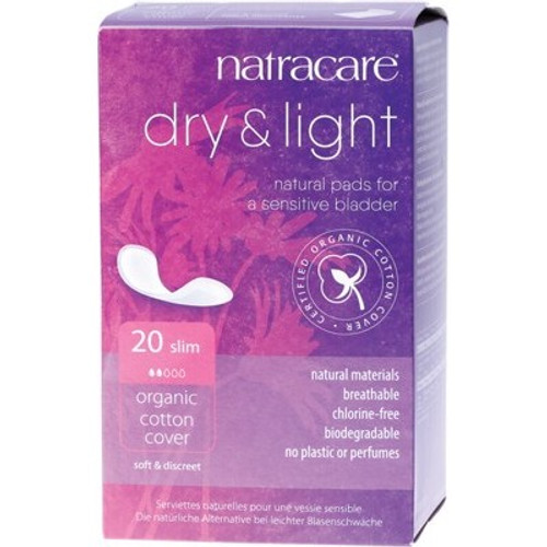 Pads Incontinence Dry & Light 20 - Natracare