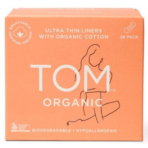 Panty Liners (Wrapped) Ultra Thin for everyday 26 - Tom Organic