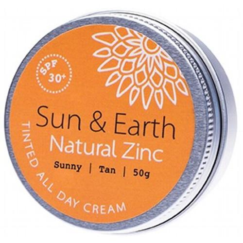 Tinted All Day Cream - SPF 30+ Sunny Medium 50g - Sun & Earth