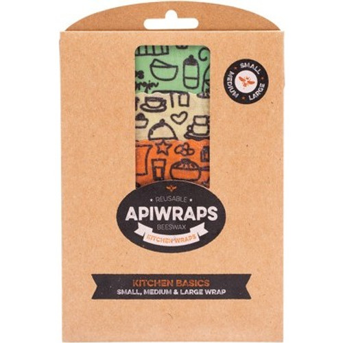 Wraps Reusable Beeswax Cheese Kitchen Basics 1 X Sml, Med, Lge - Apiwraps