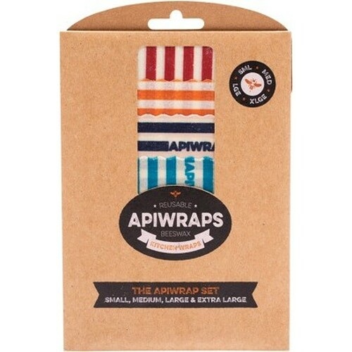 Wraps Reusable Beeswax Cheese Full Set 1 X S, M, L & XL - Apiwraps