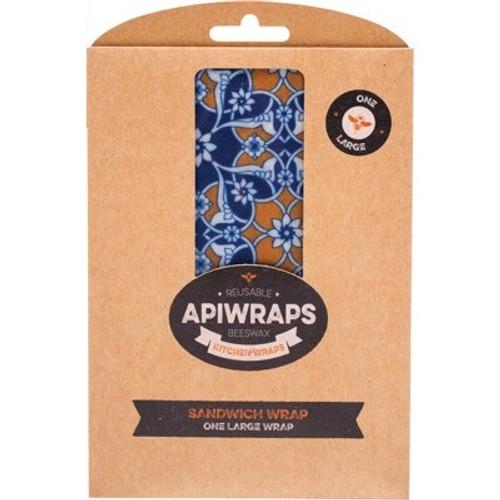 Wraps Reusable Beeswax Sandwich 1 X Large - Apiwraps