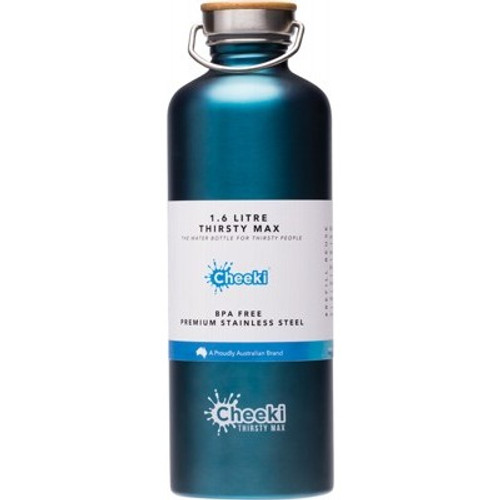 Bottle Stainless Steel Teal Thirsty Max 1.6L - Cheeki