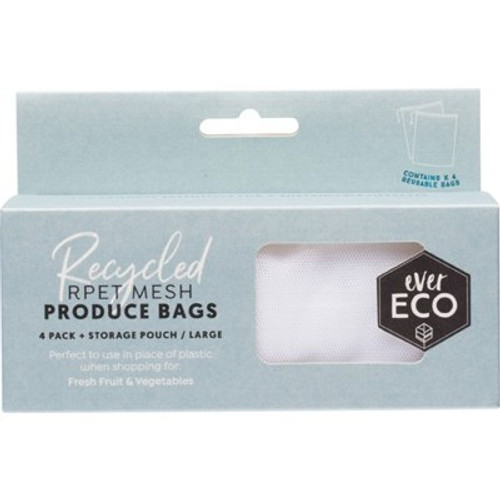 Produce Bags Recycled Polyester Mesh 4pack - Ever Eco