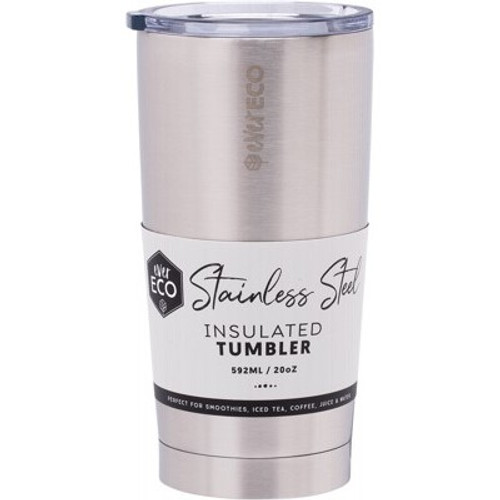 Cup/Tumbler Insulated Brushed Stainless Steel 592ml/20oz - Ever Eco