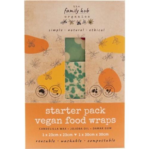 Wraps Reusable Vegan Starter set  2 piece - The Family Hub Organics