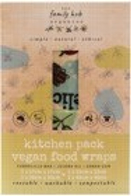 Wraps Reusable Vegan Kitchen set  4 piece - The Family Hub Organics