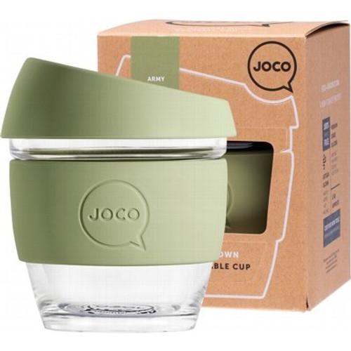 Coffee Cup Reusable Glass Army(8oz) 236ml - Joco